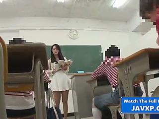 Oriental teacher with juvenile student,threatening japanese jav