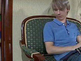young boy having fun with panties